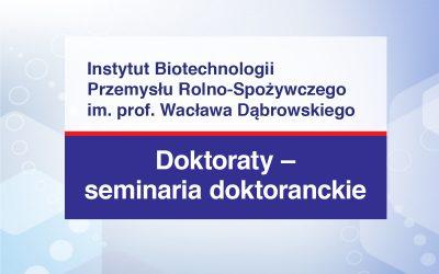 Doktoraty – Seminaria doktoranckie