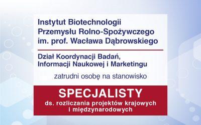 Specjalista ds. rozliczania projektów krajowych i międzynarodowych