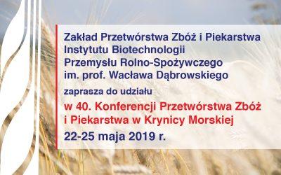 40. Konferencja Przetwórstwa Zbóż i Piekarstwa w Krynicy Morskiej