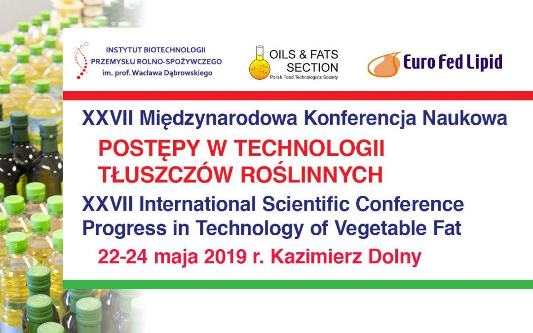 XXVII Konferencja Tłuszczowa – Kazimierz Dolny 2019