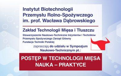 Sympozjum – Postęp w technologii mięsa. Nauka-Praktyce 2019