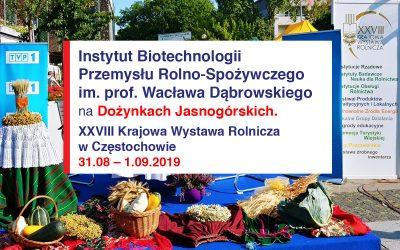 Dożynki Jasnogórskie w Częstochowie: IBPRS na XXVIII Krajowej Wystawie Rolniczej.