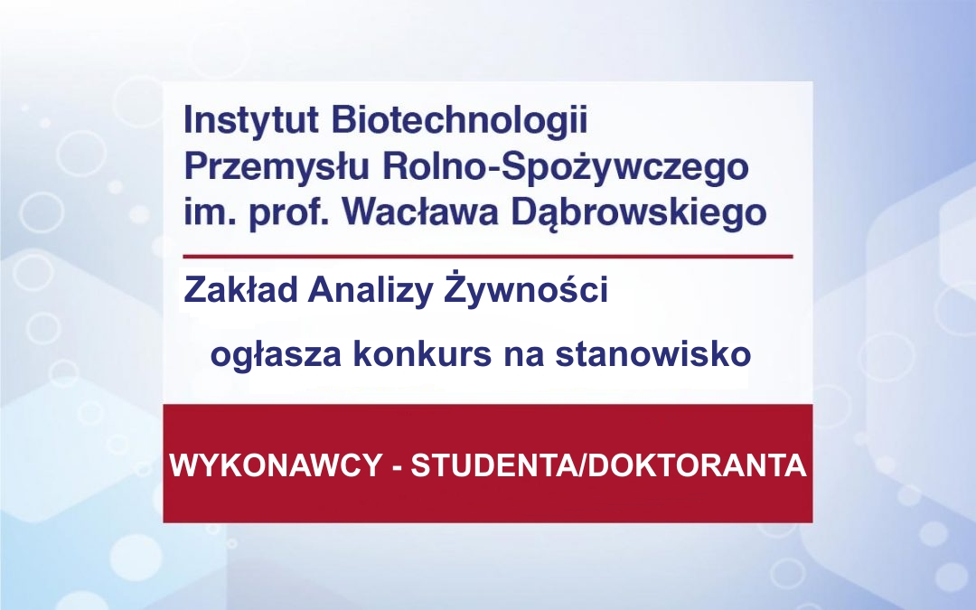 WYKONAWCA STUDENT/DOKTORANT OPUS17
