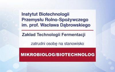 Praca – Mikrobiolog ZF