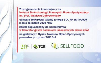 Laboratoryjne badania jakościowe ziarna zbóż na TGE S.A.
