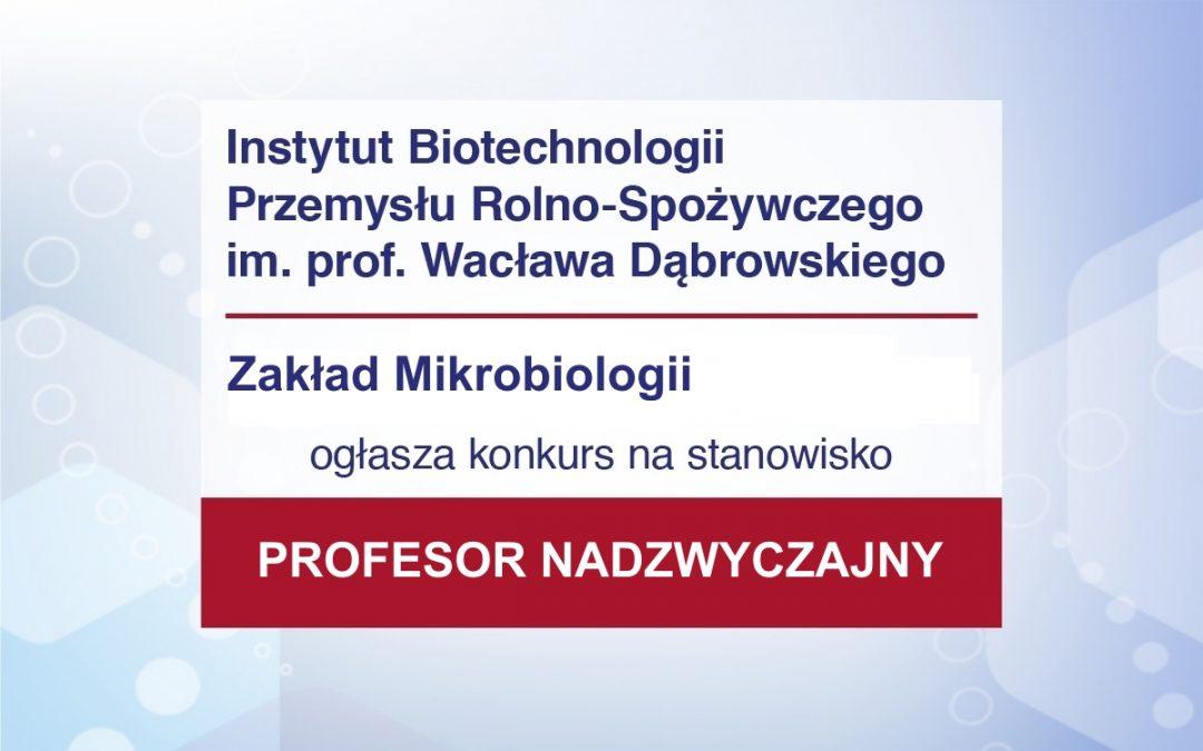 Konkurs na stanowisko Profesora nadzwyczajnego w ZM