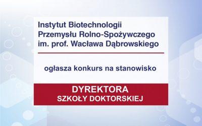 Konkurs na stanowisko Dyrektora Szkoły Doktorskiej