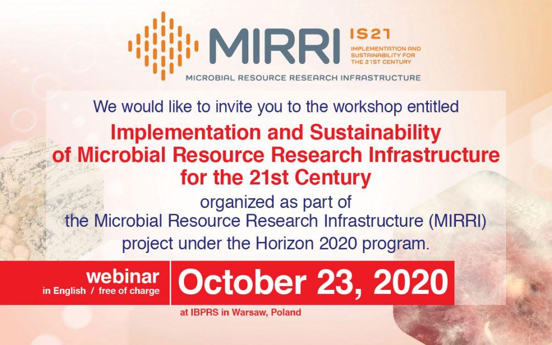 Online WP8 Workshop IS_MIRRI21 (webinar)