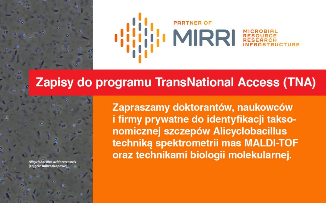 Zapisy do programu TransNational Access (TNA)