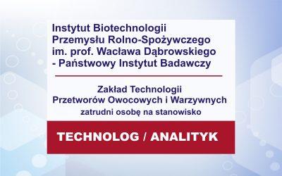 Praca – Technolog Analityk w PPS ZO