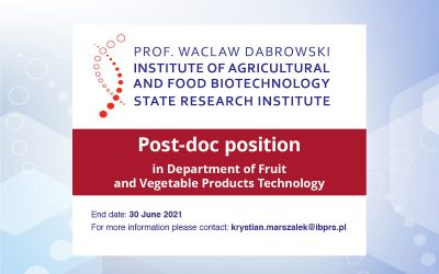 Post-doc position in Department of Fruit and Vegetable Products Technology