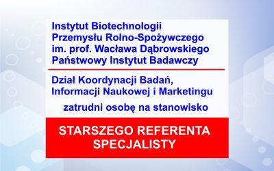 Praca – Specjalista / Starszy Referent w DI