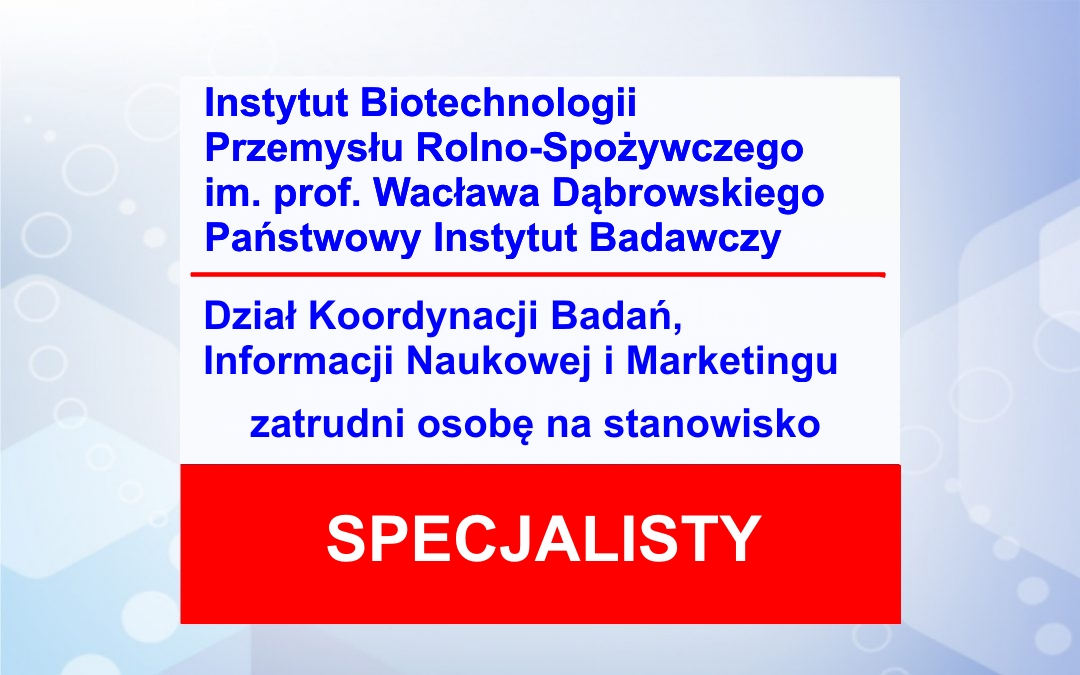 Praca – Specjalista ds. rozliczania projektów krajowych i międzynarodowych w DI