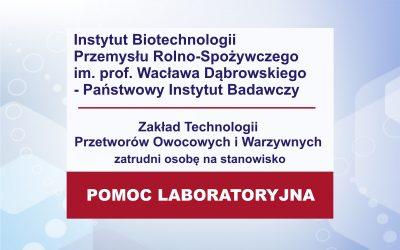 Praca – pomoc laboratoryjna ZO